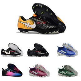 Wholesale Highest Discount Boots Mens - 2017 New Cheap Discount Mens Football Boots Tiempo Legend VII FG Outdoor Original High Quality Soccer Shoes Low Ankle Soccer Cleats 39-45