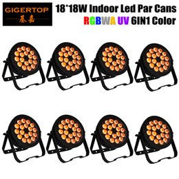 Wholesale Pro Led Lighting - Freeshipping 8 Units 18x18W Indoor 6 Color 18x18w Pro Led Par Light Freeshipping for Tree Wall Color Project Wedding Lighting TP-P103B