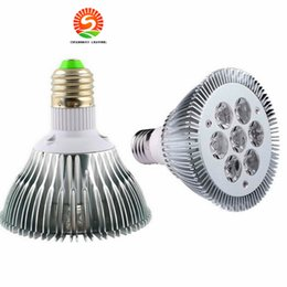 Wholesale Red Cree Led - CE ROhs LED Light PAR 30 21W 7x3W Spotlight E27 bulbs dimmmable or non-dimmable cool Warm White led PAR30 CE USA CREE chip