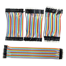 Wholesale Solderless Breadboard Jumper Cable Wires - 120pcs Ribbon Line Dupont Cable Solderless Flexible Breadboard Jumper Wires Cable Male to Male  Female to Female  Male to Female