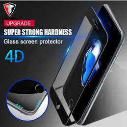 Wholesale Cover Iphone Film 3d - 4D Curved Full Cover Tempered Glass For iPhone 6 6S Plus Hard Gloss Edges Screen Protector For iPhone 7 7 Plus Protective Film