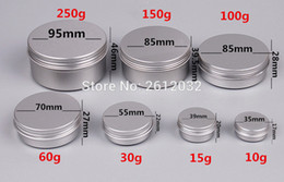 Wholesale Containers For Makeup - Wholesale- 51015 30 60 100 150 200 250 ml aluminium cream jar Aluminum Jar Makeup Cases Makeup Box Empty Sample Jars Container for packing