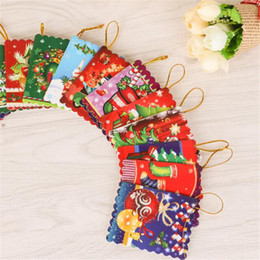 Wholesale Wishing Tree Supplies - Wholesale-50pcs lot Christmas tree ornaments Mini wishing card greeting card christmas decoration supplies creative small gift gag toys