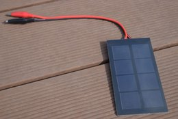 Wholesale Wholesale Alligator Toy - Solarparts 5pcs 0.8W 2v 400mA mini solar panel with Alligator clips DIY solar modules use for toys led lights educational kits