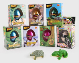 Wholesale Hot Expansion - 2017 Hot Sale Growing Dinosaur Eggs Children Toys Water Expansion Hatching Animal Eggs for Christmas Gift