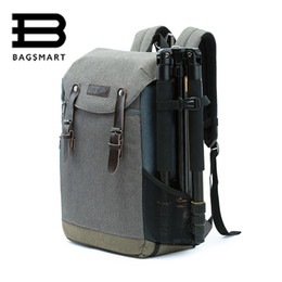 Wholesale Phone Covers Accessories - Wholesale- BAGSMART Men Multifunctional Camera Backpack DSLR Bag for 15.6 Laptops Waterproof Rain Cover for Canon Nikon Camera Accessories