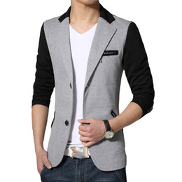 Wholesale New Men Fashion Look - Wholesale- New Fashion Style Good Quality Men Tops Five Colors Turn-down Collars Slim Looking Single Breasted Full Sleeve Spring Autumn