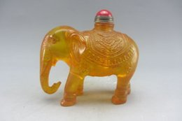 Wholesale Exquisite Chinese Carving - Chinese Exquisite Making Ideas Unique elephants design the snuff bottle Qing