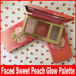Wholesale Full Retail - Faced Makeup Sweet Peach Glow Illuminating Blush Highlighters & Bronzers Palette Retail Highlighter 3colors face powder blush palette