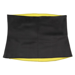 Wholesale Neoprene Waist Support - Wholesale- Women Adult Solid Neoprene Healthy Slimming Weight Loss Waist Belts Body Shaper Slimming Trainer Trimmer Corsets S-XXXL