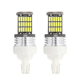 Wholesale 7443 Led Bulb White - T20 W21 5W 7443 9W 450LM White Light 2017 High Quality 45 LED 4014 SMD Car Brake Light Rear Driving Lamp Bulb Free Shipping