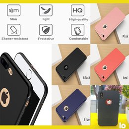 Wholesale Apple Case Iphone 5s - 4 colors Soft Slim Matte TPU phone case For iPhone 7 7plus 6 6s plus iphone8 10 5s Galaxy S8 plus protective Shelll