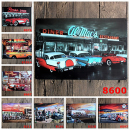 Wholesale Home Sale Signs - Hot Sale Antique Iron Paintings Car Metal Tin Sign Eats And Bar Tin Poster 20*30cm Dinner Restaurant Painting For Home 3 99rjW