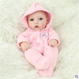 2019 livre reborn baby dolls silicone Reborn Baby Dolls Boneca Real Handmade Renascer 28 cm Real Olhar Bebê Recém-nascido Menina e menino Silicone Realista Boneca