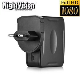 Wholesale Mini Camcorder Charger - Night vision EU US UK USB Charger Camera Full HD 1080P charger DVR Wall Charger Plug AC Adapter camera mini Camcorders Video Recorder