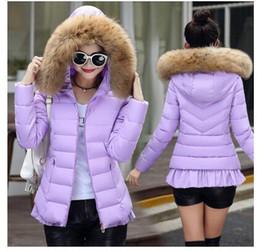 Wholesale Pad Jacks - 2017 winter women's fashion elegant 7 color Korean large fur collar all-match slim short season cotton padded jacket jacket warm winter jack
