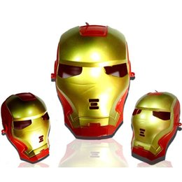 Wholesale Iron Man Avenger - Avenger Alliance Iron Man Illuminated Child Toy Iron Man Eyes Glowing Anime Peripheral Toys Ball Party Party Spoof Performing Makeup Props
