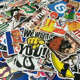 Wholesale Wholesale Jdm Decals - AUTOPS 50pcs lot Mixed Funny Hit Stickers For Kids Home Decor Jdm On Laptop Sticker Decal Fridge Skateboard Doodle Stickers Toy