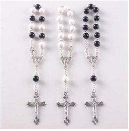 Wholesale Handmade Rosary Cross Bracelets - Mix colors Wholesale PULSERAS DECENARIOS,HANDMADE CROSS Knotted Rosary Bracelets