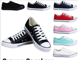 Wholesale Black Canvas High Top Sneakers - NEW size35-45 New Unisex Low-Top & High-Top Adult Women's Men's star Canvas Shoes 13 colors Laced Up Casual Shoes Sneaker shoes retail