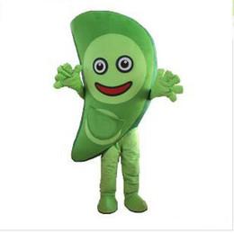 Wholesale Fancy Dress Materials - 2017 Hot sales Vegetables green peas EVA Material Helmet Cartoon Mascot Clothing Party Fancy Dress Free shipping
