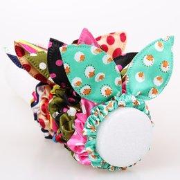 Wholesale Pony Tail Holders Flower - Original Head Flower Hair Accessories Headdress Trinkets Rabbit Ears Fabric Polka Dot Rubber Band Hair Rope Ring