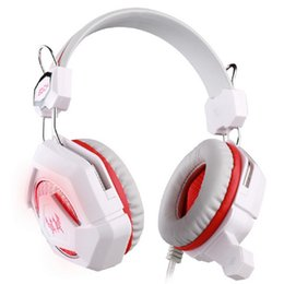 Wholesale Headphones Electronics - GS210 Stereo Headband Gaming Headphone Professional Computer Game Headset Mic Bass LED Light fone for PC Electronic Gamer