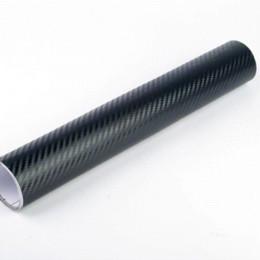 Wholesale Carbon Fibre Wrap Car - 300cmX55cm 3D carbon fiber vinyl film  carbon fibre sticker black white color option FREESHIPPING car sticker 3D carbon wrap