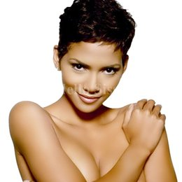 Wholesale Hot Short Hair - Hot selling Pixie cut human hair wigs full wig hairstyles short human hair wigs lace front full lace wigs for black women