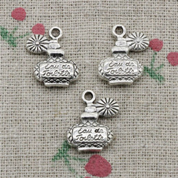 Wholesale vintage silver perfume bottle - 65pcs Charms perfume bottle 17*12mm Tibetan Silver Vintage Pendants For Jewelry Making DIY Bracelet Necklace