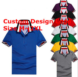 Wholesale Clear Tags - Summer Custom made Popular men polo shirts fashion famous Logo tags turn-down collar tees polos modal men's Tops tees