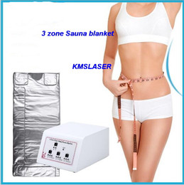 Wholesale home slimming machines - 3 zone Home Spa Far infrared sauna slimming blanket weight loss Detox body shaping home salon use machine