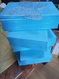 2019 invitaciones de máscara 2017 Tarjeta de invitaciones de boda de mariposa de acrílico transparente Mariposa, invitaciones de boda, invitaciones de acrílico, invitaciones de boda (1 lote = 100 piezas)