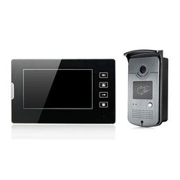 Wholesale Id Swipe - wired video door phone 7 inch screen touch key unlock by swipe ID card rainproof for villa