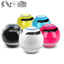 Wholesale 175 Led - YST-175 Mini colorful Ball Portable Bluetooth Wireless speakers Super Bass Stereo Handsfree subwoofer Mic TF Card With LED Light