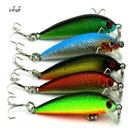 Wholesale Hard Minnows - INFOF 5pcs lot 5.5cm 2.16in 3.6g 0.127oz Minnow Fishing lure crankbait peche jerkbait artificial pike Fish bait hard bait