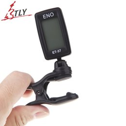 Wholesale Eno Guitar - Wholesale- ENO ET-37 LCD Tuner Mini Clip-on Guitar Chromatic Bass Violin Ukulele Tuner Wind Instrument Universal Musical Instrument