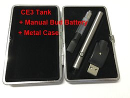 Wholesale Electronic Cartridge Cigarette Kit - CE3 vape pen manual bud touch battey 510 ego charger atomizer vaporizer pen cartridge electronic cigarettes Metal Case starter kit