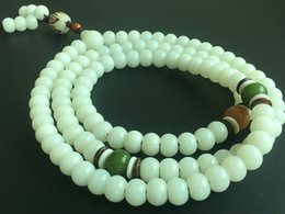 Wholesale Unique Crafts - Multifuctional White Bodhi Apple Beads Stretch Bracelet For Women Unique Crafts Beaded Jewelry Handmade Prayer bracelet NE646