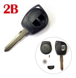 Wholesale Key Fob Remote Cover - 2 Buttons Remote Key Case Shell for Suzuki Keyless Entry Fob cover with HU133R blade