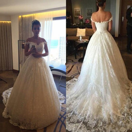 Wholesale black lace dress fast shipping - Actual Photo Lace Wedding Dresses Long Train Ivory Sweetheart Off Shoulder Princess Bridal Gowns Fast Shipping Vestidos De Noiva