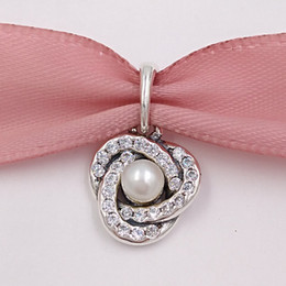 sterling silber knoten Rabatt Muttertag 925 Sterling Silber Perlen Luminous Love Knot Charms für Europäische Pandora Style Schmuck Armbänder Halskette 390401WCP Mom Geschenke