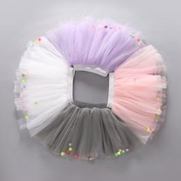 Wholesale Girls Colorful Dance Tutu - baby girls Colorful Ball Net Yarn skirt for Kids Children Short Party Dance Skirt Baby Girls TUTU Skirts