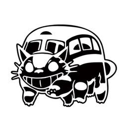 Auto del gatto dell'autoadesivo online-Nuovo Stile Car Styling Per Ghibli Totoro Catbus Decalcomania Del Vinile Cat Bus Nekobus Jdm Vinile Auto Finestra Adesivo Accessori Decorare