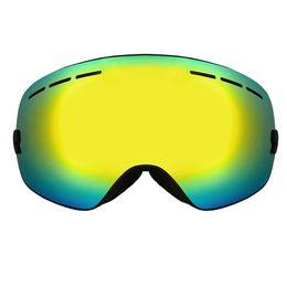 Wholesale Ski Mask Glass - Wholesale- ski goggles double UV400 anti-fog big ski mask glasses skiing men women snow snowboard goggles Hot Sale