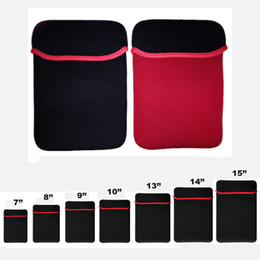 Wholesale Tablet Pouches Inch - For Universal Soft Neoprene Sleeve Case Bag Cover Pouch Pocket For Macbook Ipad air mini Tablet Samsung Tab