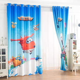 Wholesale Grommet Drapes Curtains - Customize finished product Curtain the new boy cartoon Jurassic dinosaur theme teaching children room background shading window drapes