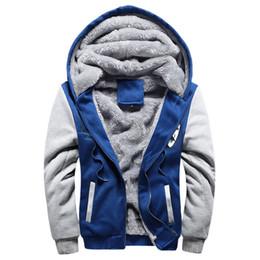 Wholesale Thick Warm Fleeces Mens - Warm Casual men's Sweat Tracksuit 2016 Brand Autumn Winter Patchwork Thick Velvet Sweatshirt Men Mens Hoodies And Sweatshirts