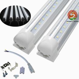T8 en forma de V Integrado blanco cálido color blanco frío 4 pies 5 pies 6 pies 8 pies Puerta enfriadora Tubos de luz LED Lados dobles SMD2835 Luces de tienda led desde fabricantes