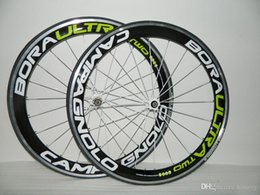 Wholesale Bora G3 - Road Bicycle Clincher GREEN Alloy Bora Ultra Two Carbon G3 Wheelset Complete Carbon Road Bike Wheels